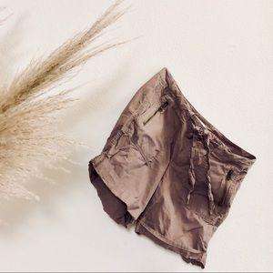 ANN TAYLOR LOFT Blush Drawstring Zip Cargo Shorts